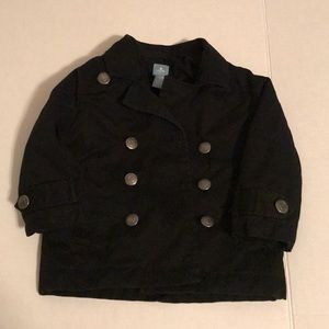 Baby gap pea coat 18-24m nice black toddler jacket